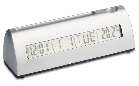 THERMOMETER DESK CLOCK