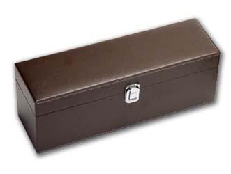 Δερμάτινο κουτί για 1 μπουκάλι και ξύλινα εργαλεέα